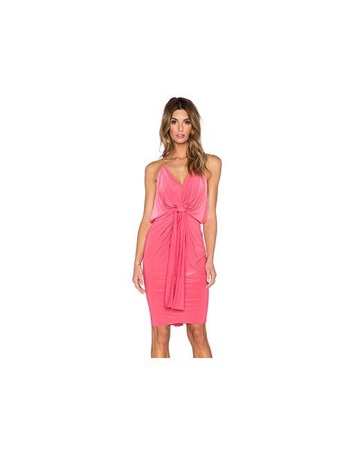 T-Bags LosAngeles | Женское Коралл Платье На Бретельках С V-Образным Вырезом