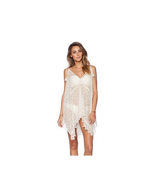 KAS New York   Женское Слоновая Костящее Кружевное Платье Zulaika