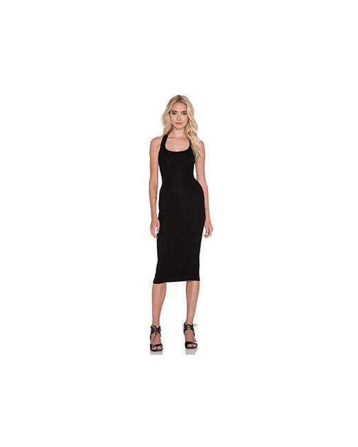 Enza Costa | Женское Чёрное Платье Миди