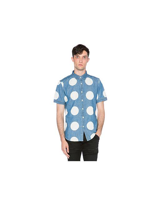 G-Star | Мужская Синяя Рубашка С Коротким Рукавом Landoh Clean Boll