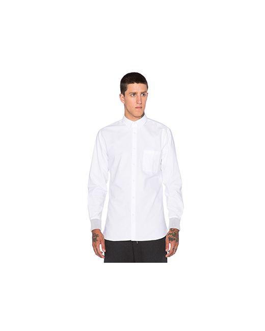 ZANEROBE   Мужская Белая Рубашка Seven Foot Rib Cuff