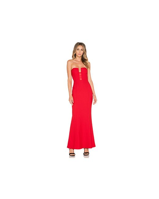 Elle Zeitoune | Женское Красное Платье Monica
