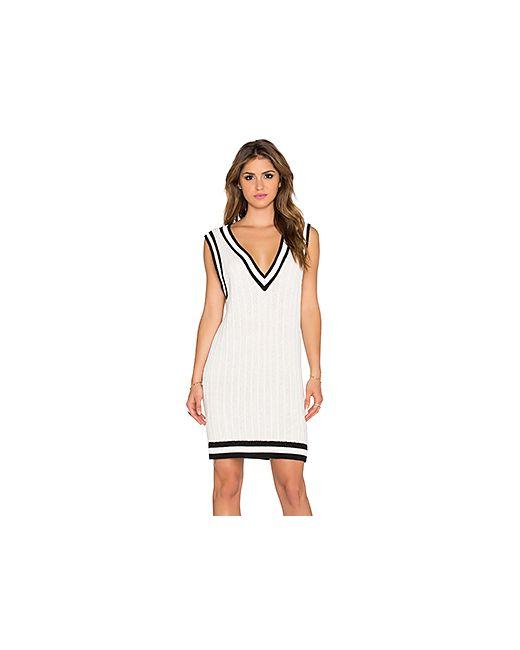 Wilde Heart | Женское Белое Платье Varsity