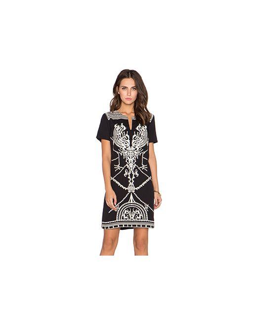 Deby Debo   Женское Чёрное Вышитое Цельнокроеное Платье Aude