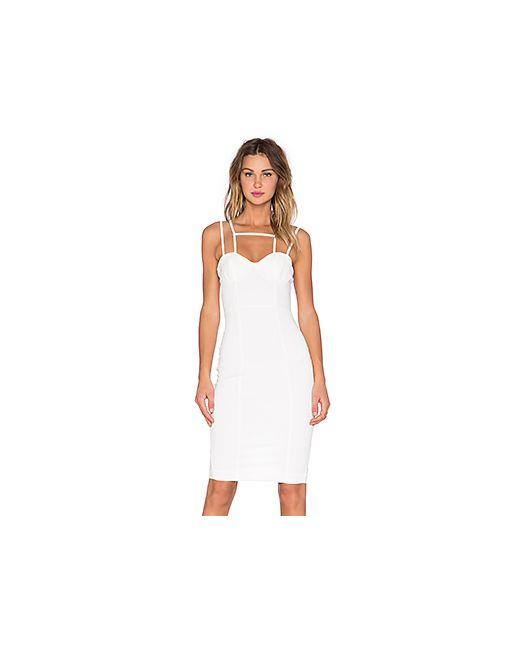 AQ/AQ | Женское Белое Платье Миди Starlet