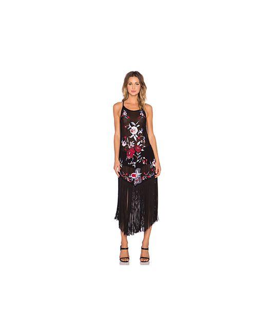 Cleobella | Женское Чёрное Платье Миди Magnolia