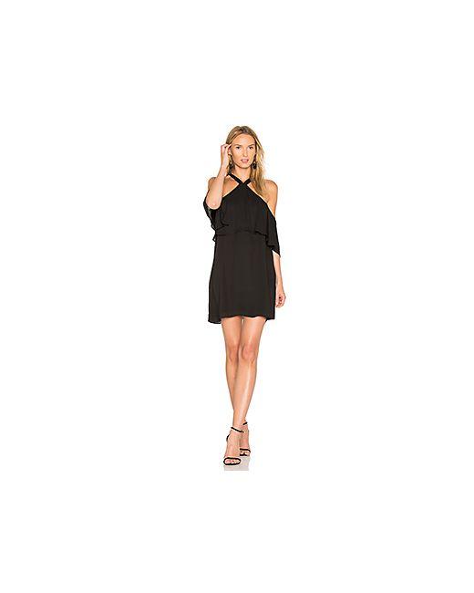 krisa | Чёрный Off Shoulder Halter Dress