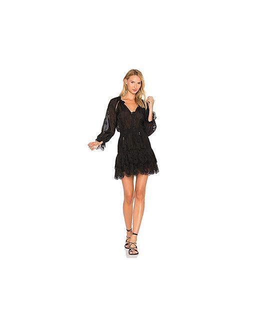Zimmermann | Женское Чёрное Платье С Вышивкой Tulsi