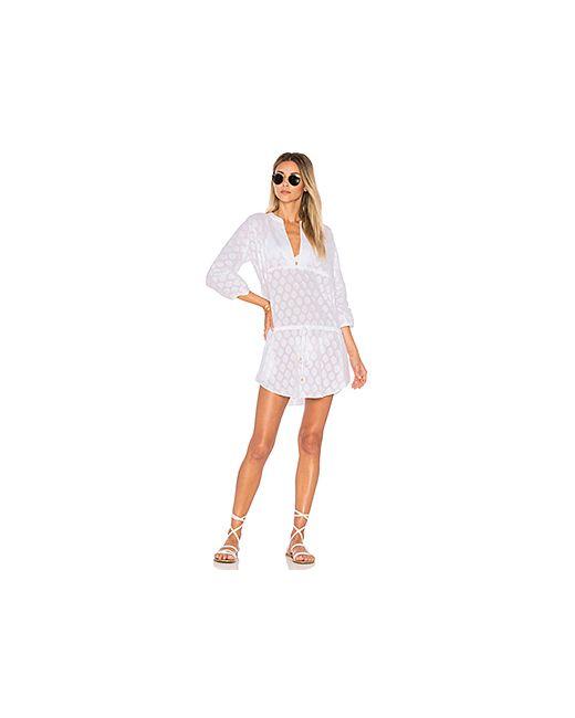 Vix Swimwear   Женское Белое Платье Cristina