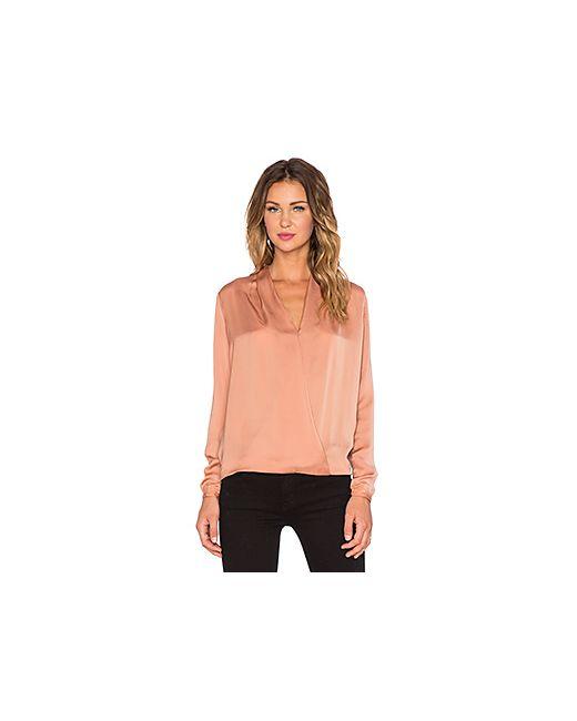 Maison Scotch   Женская Персиковая Блуза С Перекрестными Шлейками Спереди