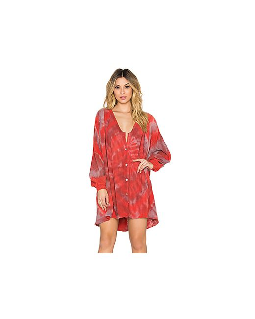 Jen's Pirate Booty | Женское Красное Платье С Юбкой-Солнце Hera