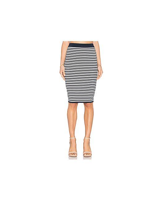 EGREY | Женская Синяя Юбка Миди Striped