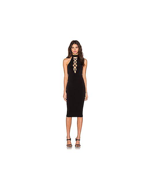 Nookie | Женское Чёрное Платье Tropicana