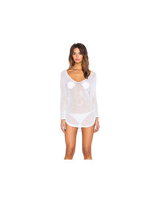 Wildfox Couture | Женская Белая Майка В Сеточку Neptune