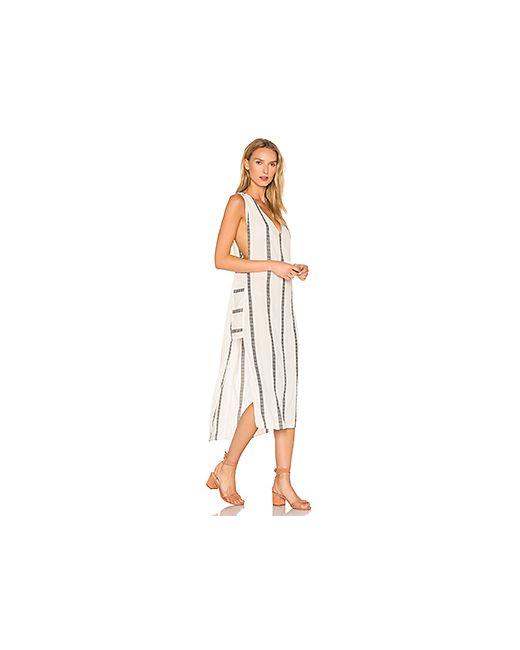 Vix Swimwear | Женское Ivory Длинное Платье В Полоску Luanna