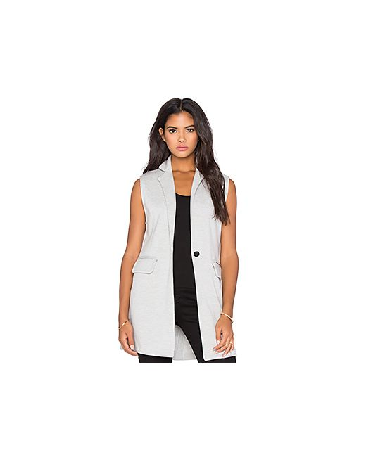 525 America | Женская Серая Куртка Без Рукавов Двойная Вязка