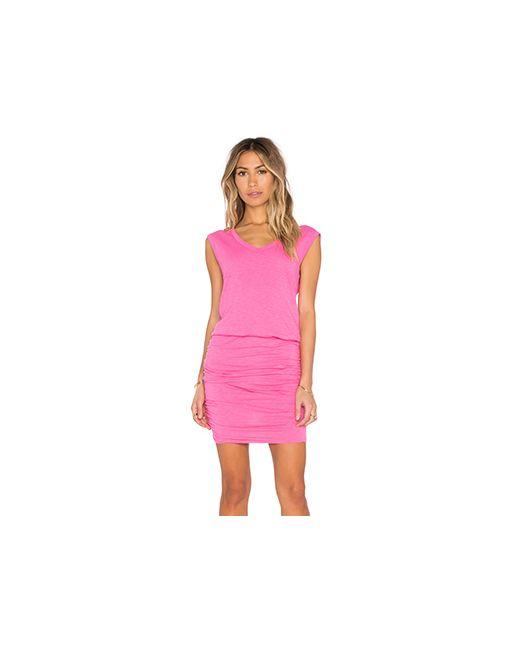 Velvet by Graham & Spencer | Женское Розовое Платье Bardot