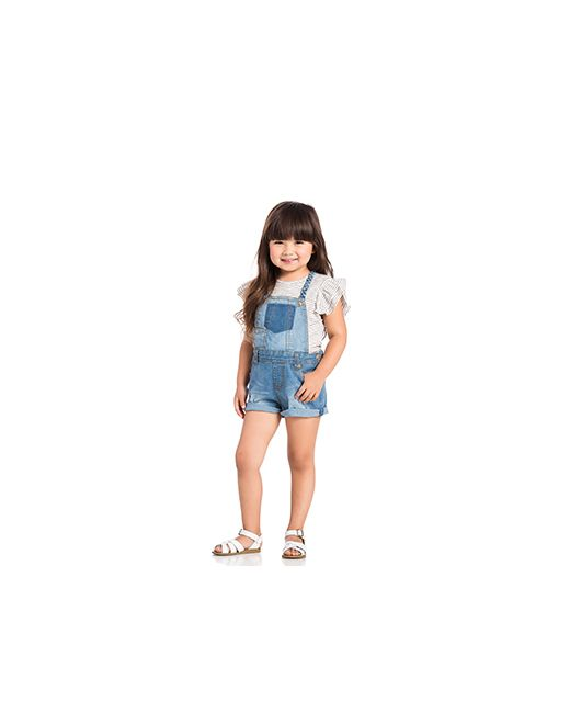 7 For All Mankind Kids | Синий 7 For All Mankind Toddler Overall Set