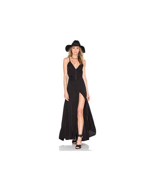 MERRITT CHARLES | Женское Чёрное Платье Aztec