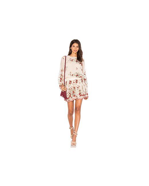 Zimmermann   Женское Цвет Загара Платье С Вышивкой Sakura