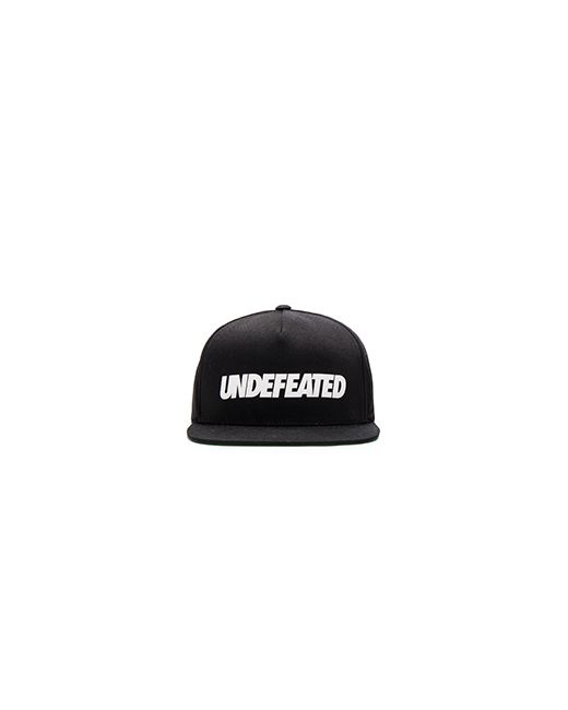 Undefeated | Мужская Чёрная Бейсболка