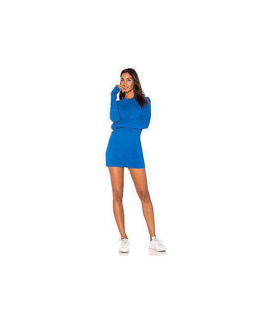 Cotton Citizen | Женское Синее Мини-Платье С Длинным Рукавом The Tokyo