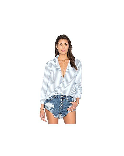 ROLLA'S | Женская Синяя Полосатая Рубашка С Застёжкой На Пуговицы Desert