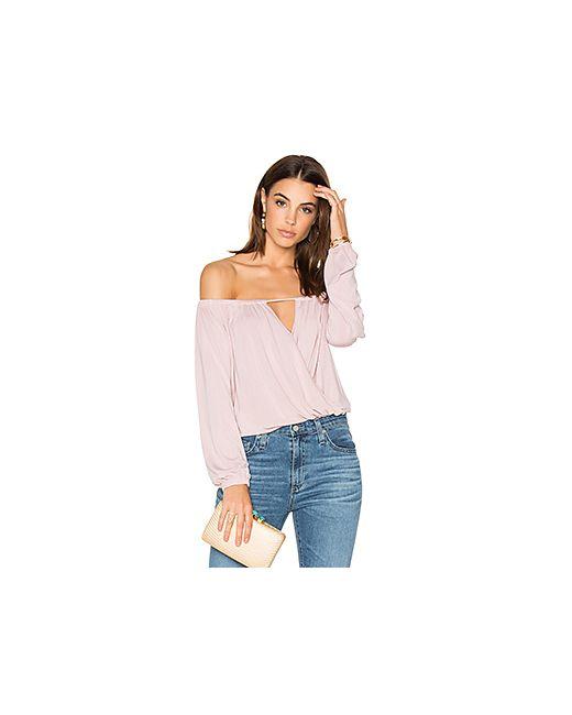 krisa | Женское Розовый Off Shoulder Surplice Top