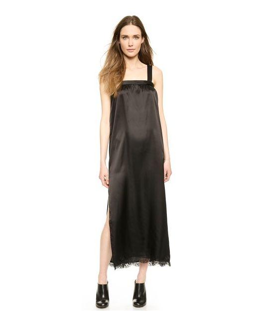 MM6 by Maison Margiela | Женское Атласное Платье Без Рукавов С Драпировкой