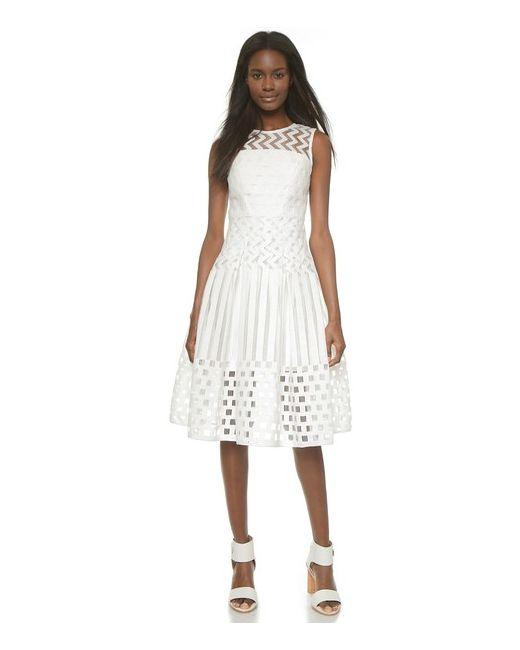Milly   Женское Платье Illusion Filament Со Встречной Складкой