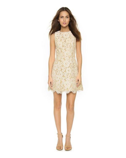 Alice + Olivia | Женское Бежевое Расклешенное Платье Без Рукавов Leann