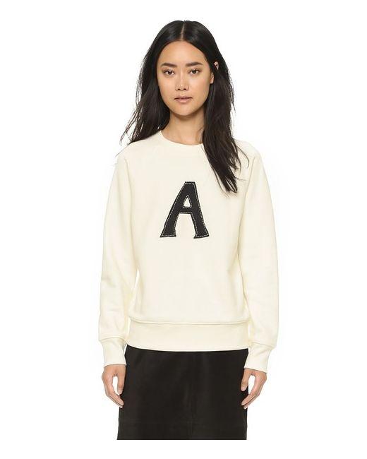 T By Alexander Wang | Женское Белое Платье С Перекрещенной Спиной Из Эластичного Трикотажа
