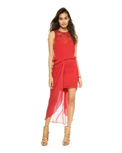 Free People | Женское Красное Платье Red Hot Party