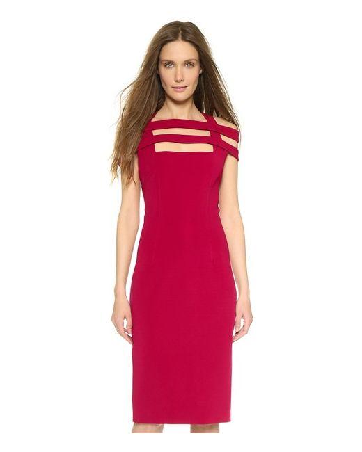 Cushnie Et Ochs | Женское Красное Платье С Бретельками Образующими Сетку