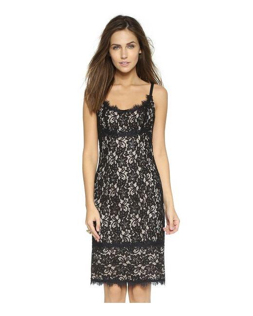 Diane Von Furstenberg | Женское Чёрное Кружевное Платье Olivia