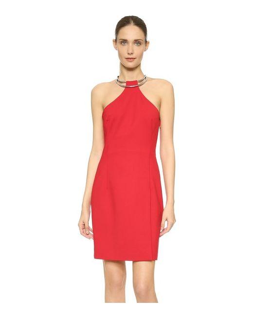 Kaufmanfranco   Женское Красное Платье С Кольцом И Американской Проймой