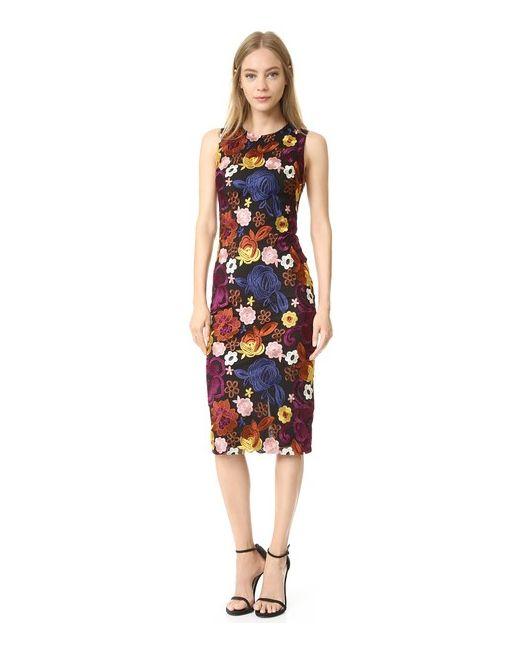 Alice + Olivia | Женское Многоцветное Облегающее Платье Nat