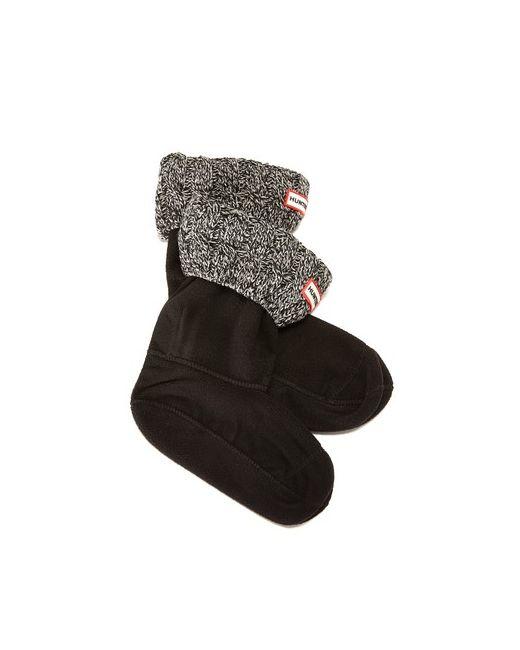Hunter Boots   Женские Чёрные Носки С Отделкой В Виде Косичек Под
