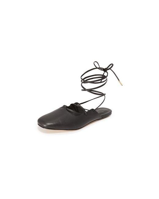 Tibi   Женская Голуба Обувь На Плоской Подошве Lila С Ремешком
