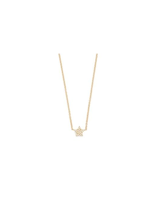 EF COLLECTION | Золотой 14k Diamond Star Necklace