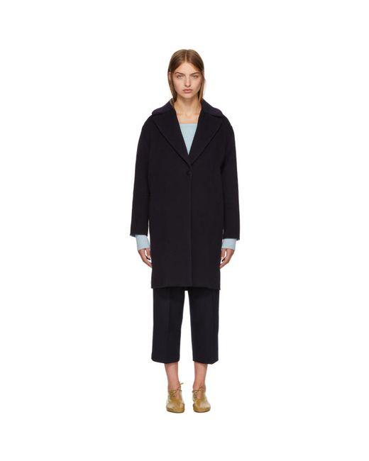 Cedric Charlier | Чёрный Wool Coat