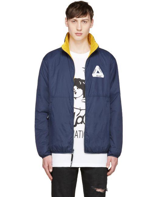 PALACE | Mood Indigo & #47; Zinnia Y Navy And Yellow Thinsulate Reversible Jacket