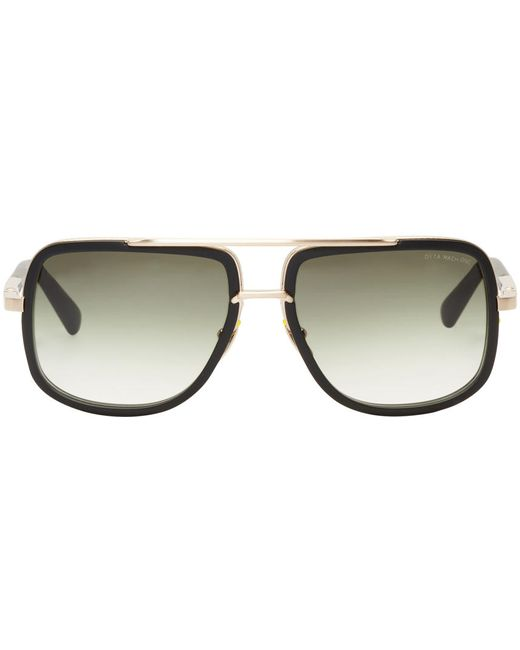 Dita | Чёрный Black And Gold Mach-One Aviator Sunglasses