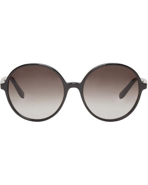 Valentino | Чёрный Black Round Sunglasses