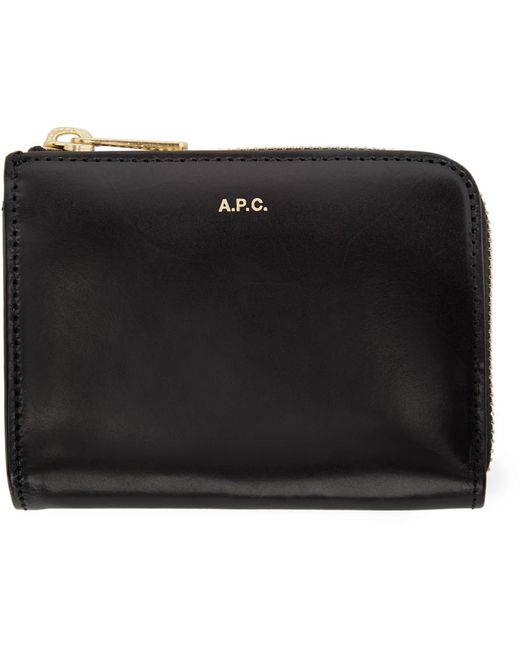 A.P.C. | Чёрный Black Leather Julian Wallet