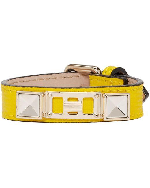 Proenza Schouler   Желтый Yellow Leather Ps11 Single Wrap Bracelet
