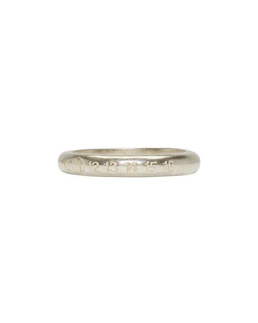 Maison Margiela | Серебристый Silver Slim Logo Ring