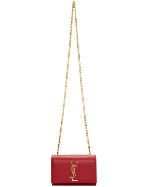 Saint Laurent | 6422 Rouge Vif Red Small Monogram Shoulder Bag
