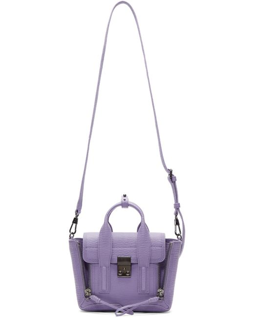 3.1 Phillip Lim | Violet And Black Mini Pashli Satchel