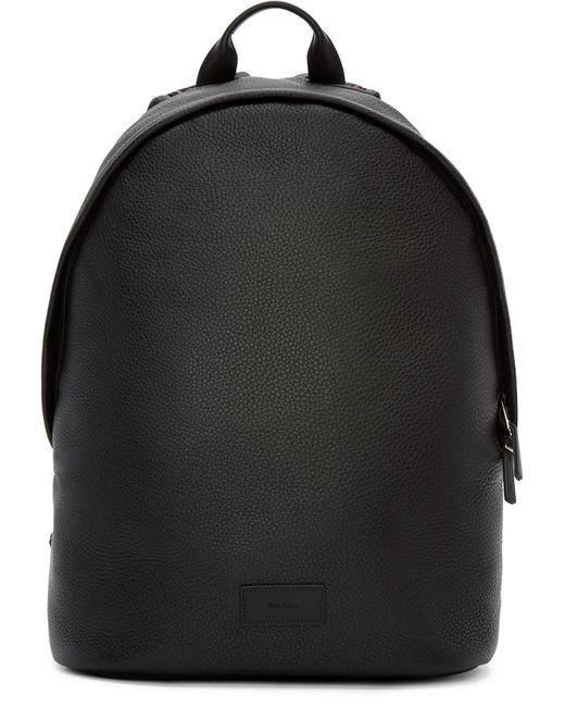 Paul Smith | Чёрный Black Leather Backpack
